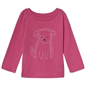 Image of GAP Pink Puppy Print Tee 4 år (3125233213)