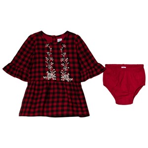 Image of GAP Berry Red & Black Plaid Dress 4 år (1199998)