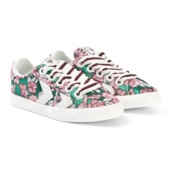 Hummel Deuce Court Flowers Jr Lace Shoes MULTI COL