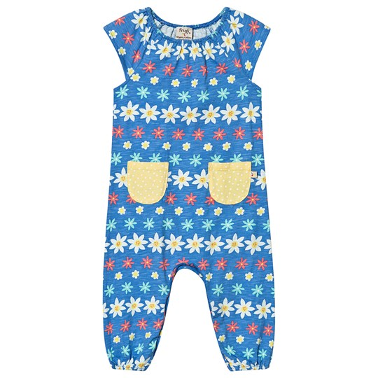 Frugi Dory Gathered Jumpsuit Flower Farm Flower Farm