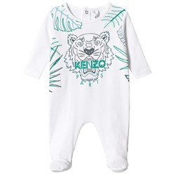 Kenzo Optic White Branded Footed Baby Body