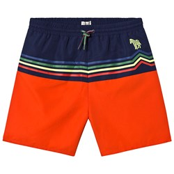 Paul Smith Junior Navy and Red Stripes Swim Trunks