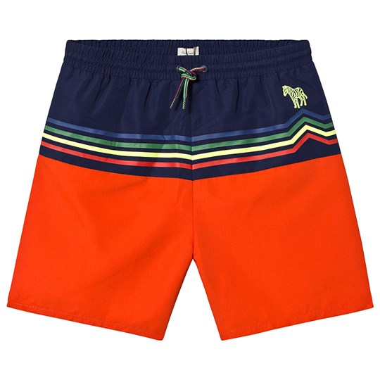 Paul Smith Junior Navy and Red Stripes Swim Trunks 340
