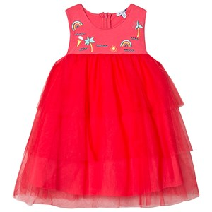 Image of Absorba Pink Tulle Embroidered Dress 12 months (3125309423)