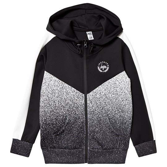 Hype Speckle Fade Crest Track Jacket Black/White Black