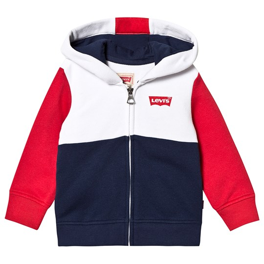 Levis Kids Branded Hoodie Navy/Red/White 48