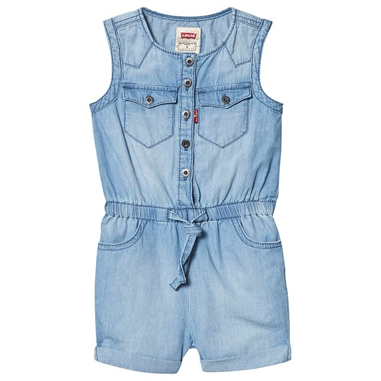 Levis Kids Light Wash Denim Romper Blue 46