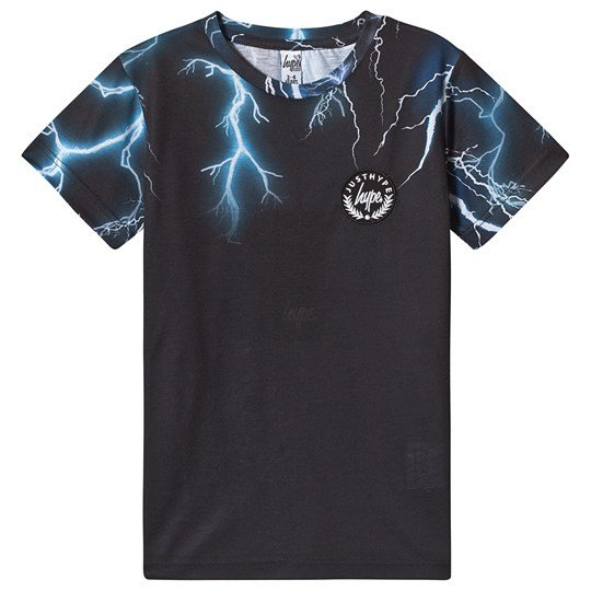 Hype Black Lightning Neck T-Shirt Black/multi