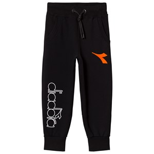 Image of Diadora Black Branded and Orange Flocked Logo Sweatpants L (12 years) (3125278997)