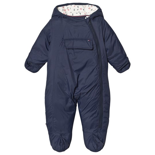Tommy Hilfiger Navy Baby Coverall 002