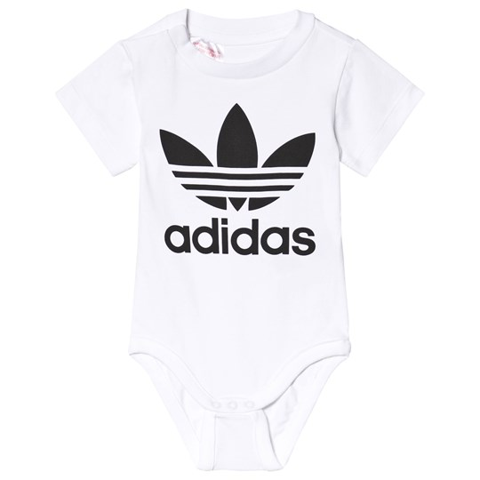 adidas Originals White Big Trefoil Logo Baby body White/Black