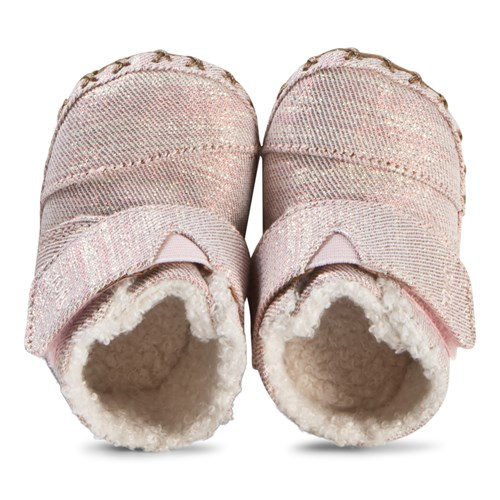 Rose Gold Twill Glimmer Tiny TOMS Cuna