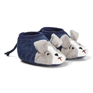Image of Tom Joule Navy Baby Squeaker Puppy Slippers 0-6 months (3125313013)