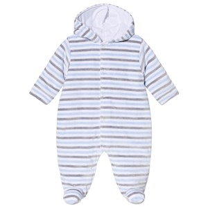 Image of Kissy Kissy Blue & Grey Harmony Stripe Coverall 0-3 months (3125242907)