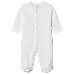 Kissy Kissy White Classic Jacquard Footed Baby Body