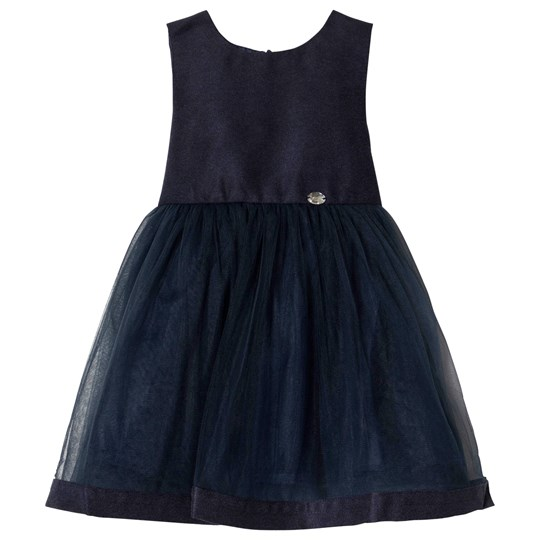 Jocko Navy Sleeveless Tulle Baby Dress Navy