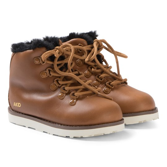 AKID Jasper Boots in Brown BROWN/BLACK LEATHER AND FUR
