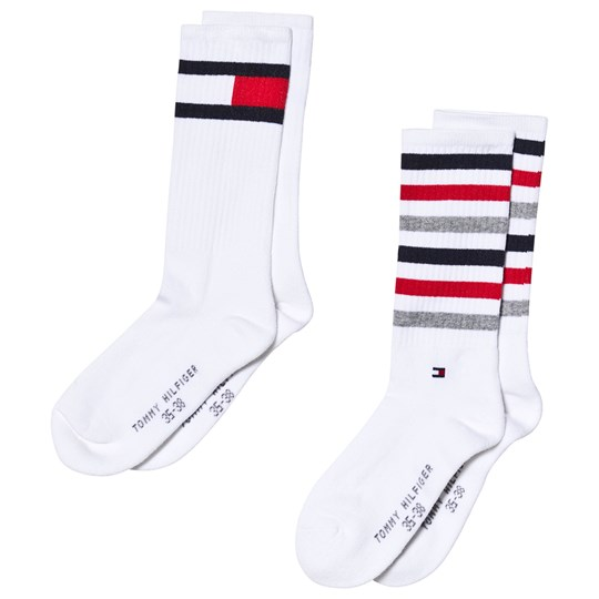 Tommy Hilfiger White Flag Socks 2-Pack White