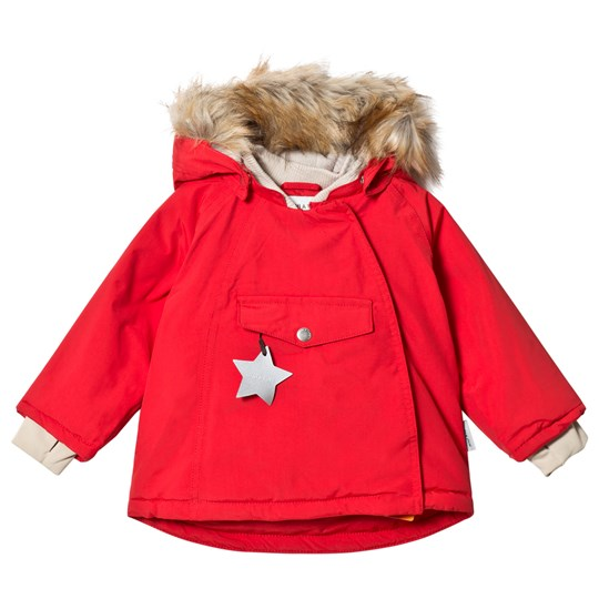 Mini A Ture Wang Faux Fur Jacket Chinese Red Chinese Red
