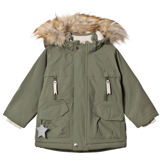 Mini A Ture Wille Faux Fur Jacket Clover Green Clover Green