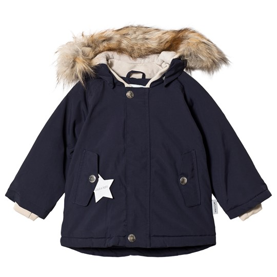 Mini A Ture Wally Faux Fur Jacket Sky Captain Blue Sky captain blue