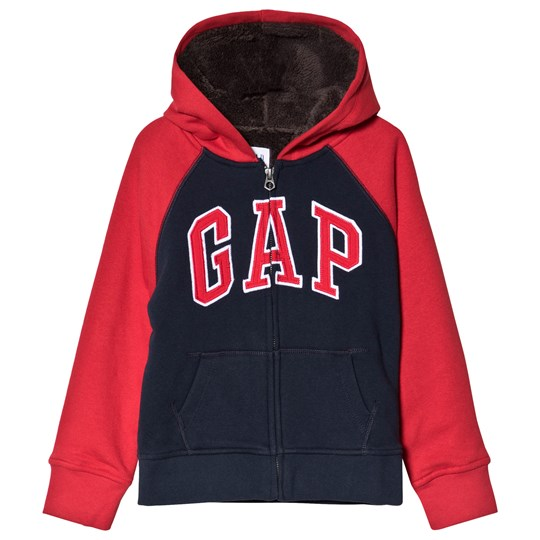 GAP True Indigo & Red Logo Hoodie TRUE INDIGO 340