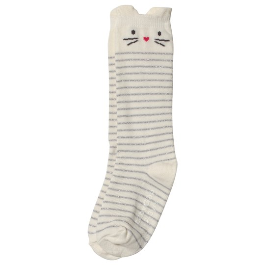 GAP New Off White Cat Knee-High Socks NEW OFF WHITE