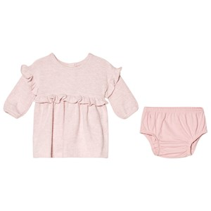 Image of GAP Pink Ruffle Dress and Bloomers 6-12 mdr (3065577583)