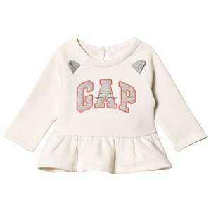 Image of GAP Ivory Frost Cat Tee 6-12 mdr (3065577639)