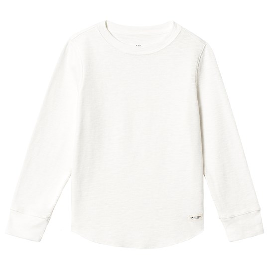 GAP Textured Long Sleeve T-shirt New Off White NEW OFF WHITE