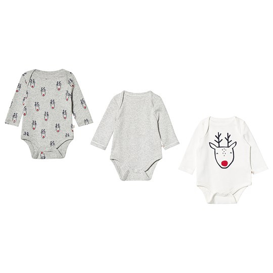 GAP 3-pack Langermet Baby Body Light Heather Grå Light Heather Grey B08