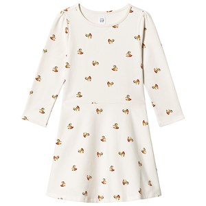 Image of GAP Print Fit and Flare dress Ivory Frost 12-18 mdr (1204158)