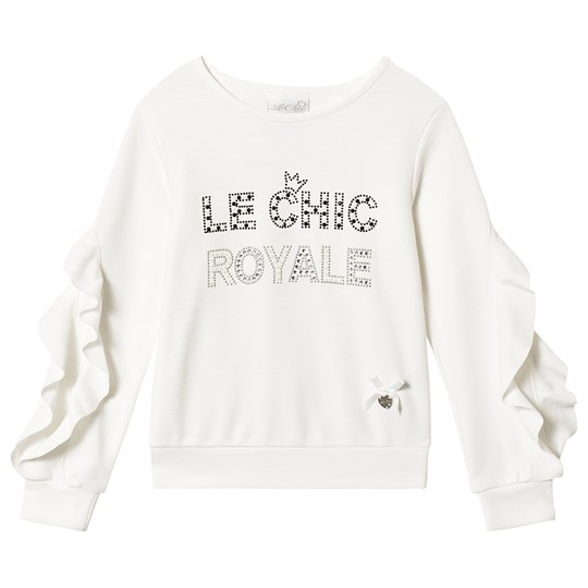 Le Chic Cream Frill Sleeve Sweater 003