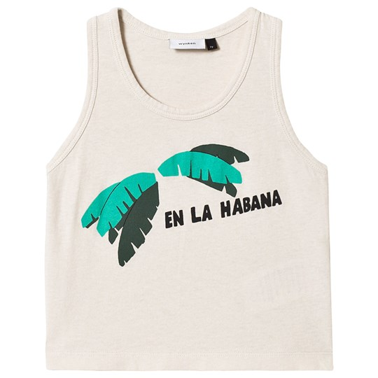 Wynken White Banana Leaves Vest TALC