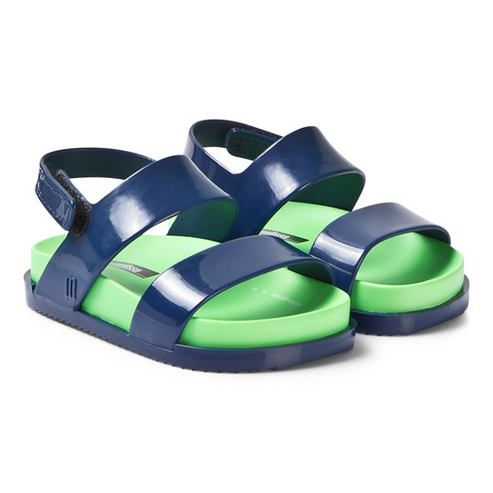 Mini Melissa Navy and Green Cosmic Sandals 52148