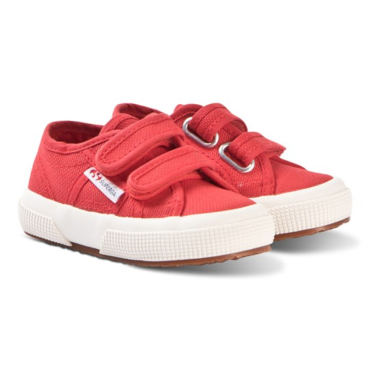 Superga Red CotJStrap Velcro Classic Canvas Shoes 975 RED