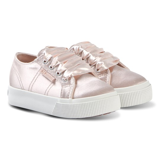 Superga Pink SatinJ Kids Shoes 914 ROSE