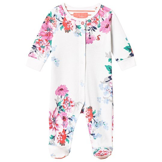Tom Joule White Floral Footed Baby Body White Small Floral