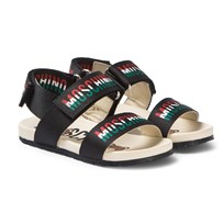 93701e80b Moschino Kid-Teen Branded Couture Velcro Sandals Black 0A01