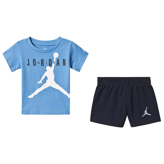 Air Jordan Jumpman T-shirt och Shorts Set Blå/Marinblå 695