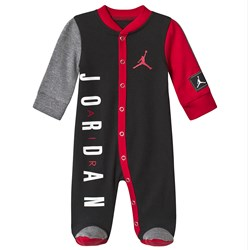 Air Jordan Black and Red Jordan Jumpman Logo Babygrow