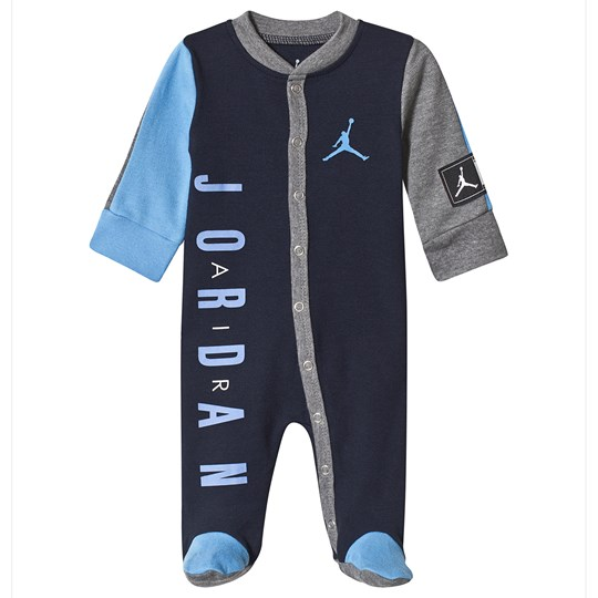Air Jordan Navy and Grey Jordan Jumpman Logo Babygrow 695