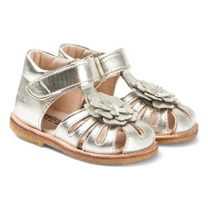 Image of Angulus Champagne Flower Sandals 22 (UK 5) (3125312531)