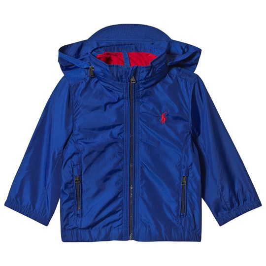 Ralph Lauren Blue Windbreaker Jacket with Small PP 001