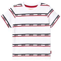 Levi's Kids White Multi Logo Stripe Tee