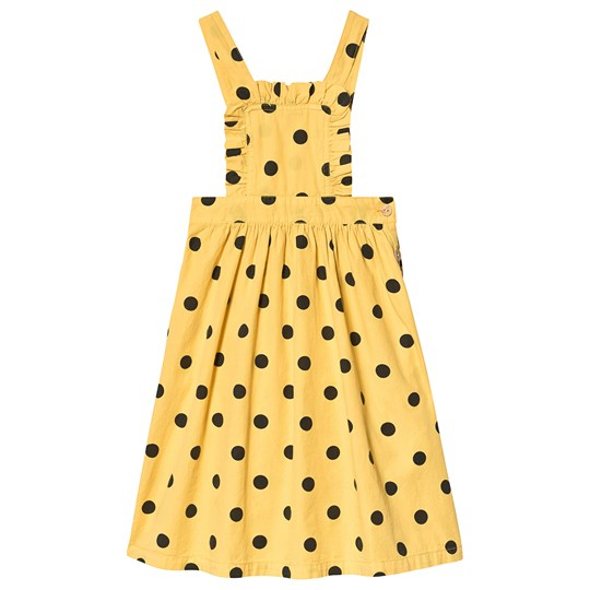 The Animals Observatory Cow Kids Dress Yellow Polka Dots Yellow Polka Dots