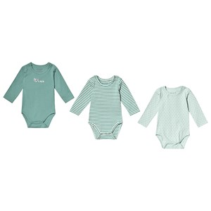 Image of Hust&Claire 3-Pack Base Baby Bodies Green 56 cm (1-2 mdr) (3125318625)