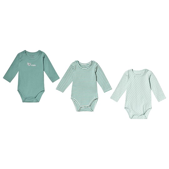 Hust&Claire 3-Pack Base Baby Bodies Green Green sea