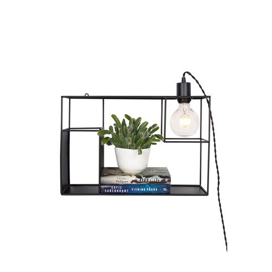 Globen Lighting Shelfie Wall/Table Lamp Black Black
