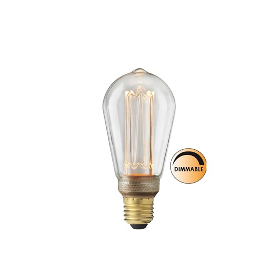 Globen Lighting Light source Laser LED Filament Dimmable Ready E27 Clear